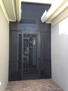 my new front door - see the palm tree?!