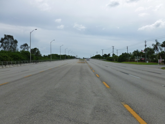 A major road in Ft. Myers - overbuilt? No, just off season!